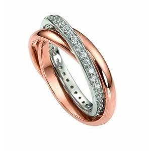 Celesta Damen Ring 925/- Sterling Silber Glänzend Zirkonia rot 360271451
