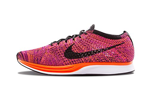 Nike Flyknit Racer, Chaussures de Running Entrainement Homme BLACK/BLACK-HYPER ORANGE-VIVID PURPLE
