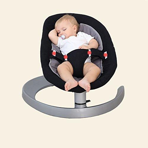 Aluminium-basis-pad (AIBAB Baby Wippe Elektrische Schaukelstuhl Bett Multi-Funktions-Anpassung Double-Layer-Pad Vier Jahreszeiten Verfügbar Aluminium Basis Sicheren und Stabilen Komfort Stuhl,A)