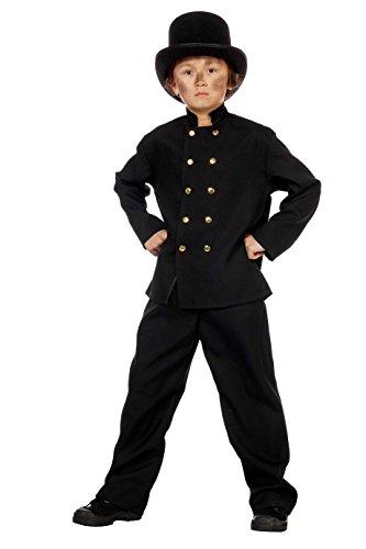 Schornsteinfeger Kaminkehrer Kostüm mit Zylinder schwarzer Mann 116 -