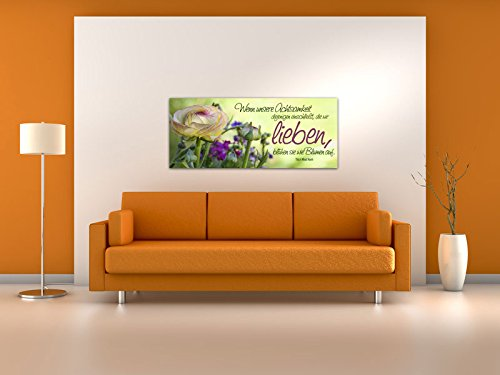 Dalinda® XXL-Wandbild Leinwandbild mit Spruch Die wir lieben… 100x40cm Keilrahmenbild Kunstdruck Wandbild Panorama Leinwandbild LS027