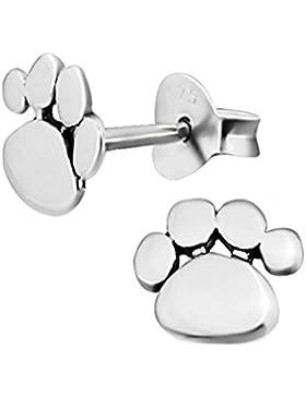 Ohrringe, Design: Hundepfoten, Sterling Silber