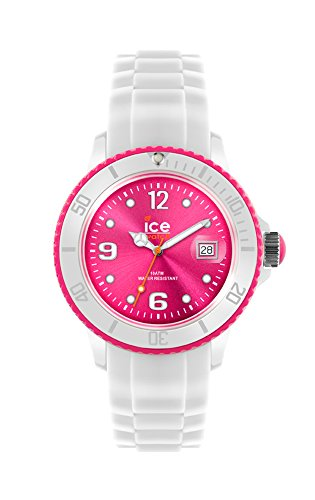 Ice-Watch - ICE White White Fluo Pink - Women's Wristwatch with Silicon Strap - 013821 (Medium)