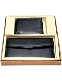 [Sponsored]Vanalika Combo Of Gents Wallet And Ladies Wallet(Gift Set Made Of Leather)