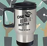 Taza de viaje de graduación de clase más caliente de 2018, regalo de graduación, graduación, graduación en la escuela secundaria, vaso de acero inoxidable para fiesta de graduación