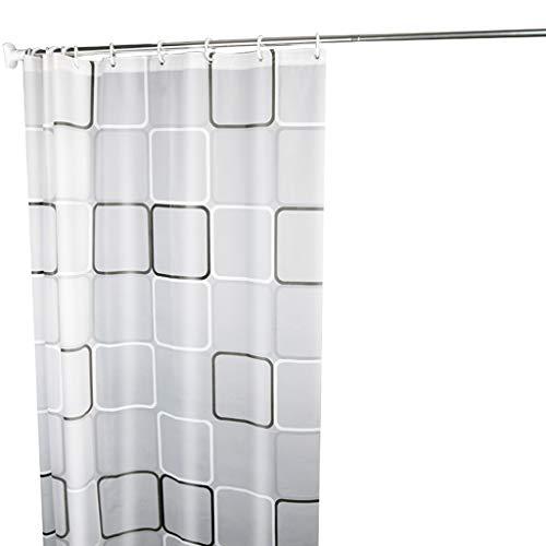 Yxnn tenda della doccia punzonatura gratuita impermeabile muffa bianco tenda di stoffa tenda da bagno bagno asta di tenda doccia di ispessimento delle partizioni (dimensioni : 180x80cm)