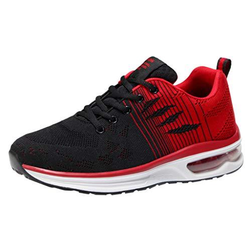CUTUDE Herren Mode Männer Outdoor Mesh Freizeit Sportschuhe Laufen Atmungsaktiv Leichte Stoßfest Schuhe Turnschuhe Frühling Sommer (Rot, 45 EU)