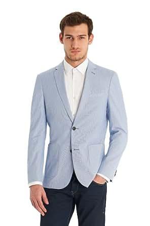 DKNY Slim Fit Blue Stripe Jacket 44R Blue