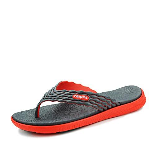 Men's High Quality Sapatos Masculino Beach Slippers red black
