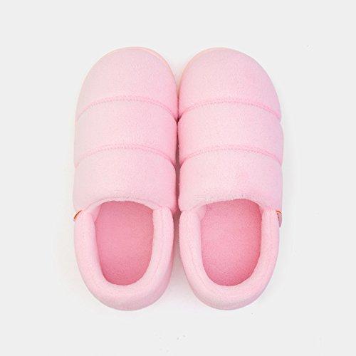 DogHaccd pantofole,Home pacchetto coppie con cotone pantofole spessa femmina caldo inverno piscina incantevole pantofole di peluche maschio,GrigioRosa chiaro Rosa chiaro3