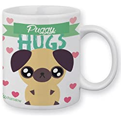 "Taza Fluffy Chamalow Panda Pug CARLINO ""puggy Hugs '"