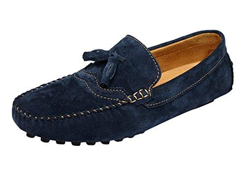 Icegrey Herren Mokassin Mit Quaste Casual Brogue Stil Fahren Schuhe Halbschuhe Blau