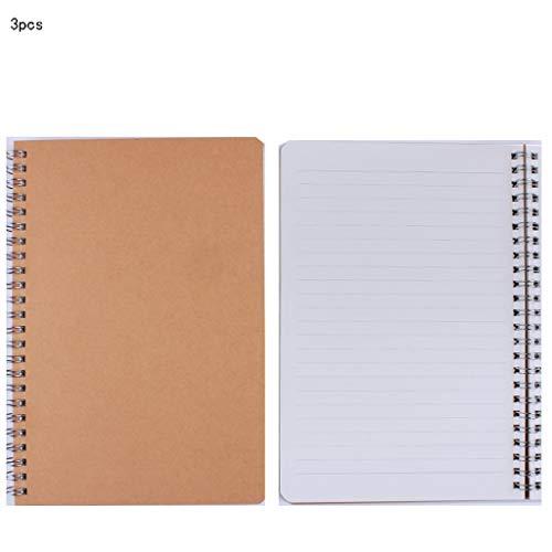 WATERMELON Tragbare Skizzieren Spule Notizbuch Tagebuch für Zeichnung Malerei Graffiti Soft Cover Leeres Papier Notebook Schule Büro Schreiben Notebook (Color : Yellow, Style : Horizontal line) (Schreiben Notebook Schule)