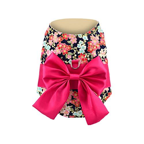 Fenverk 1Pc Weich Japanisch Kimono Hund Stoff Alle GrößEn Haustier HüNdchen Katze Kleidung Weste Geschirr Jumper Sweatshirt Mantel Zum Klein Rasse Hunde S/M / L ()