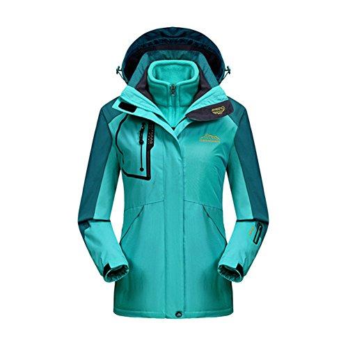 iBaste Outdoorjacke für Damen und Herren 3 in 1 Jacke mit Kaupzen Doppeljacke damen Regenjacke Hardshelljacke Wasserdicht atmungsaktiv Skijacke Funktionsjacke