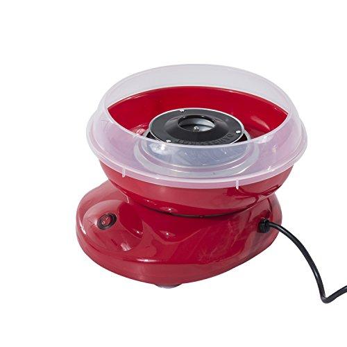 Homcom 800-016RD Zuckerwattemaschine, Plastik, rot, 27 x 26 x 18 cm