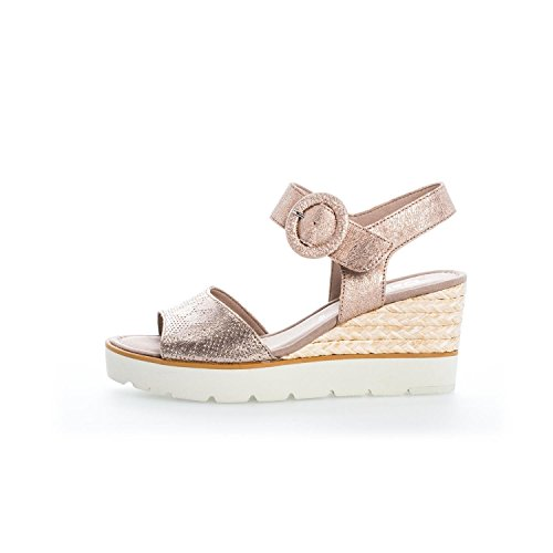Gabor sandalo delle donne 65.764.62 guscio grigio metallo