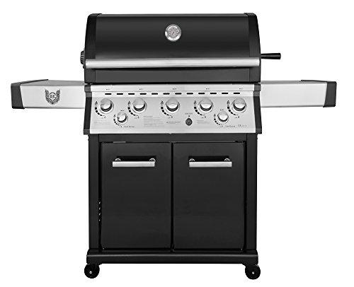 Gasgrill BBQ Chief Helios 5+1 | 5 Edelstahl Brenner | 24,5kW Gesamtleistung | Gussrost | Infrarot Backburner | Motor Drehspieß | Seitenbrenner