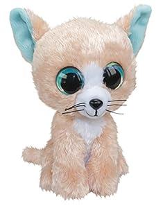 LUMO STARS Cat Peach Animales de Juguete Felpa Beige, Azul, Blanco - Juguetes de Peluche (Animales de Juguete, Beige, Azul, Blanco, Felpa, 3 año(s), Cat (Animal), Niño/niña)