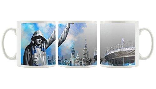 Sechzig 'Grünwalder' als bedruckte Kaffeetasse / Teetasse aus Keramik, 300ml, weiß