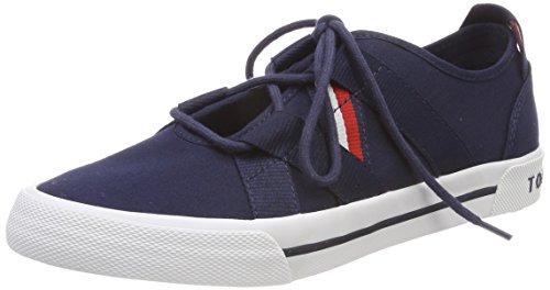 Tommy Hilfiger Damen Heritage Open Lace up Sneaker, Blau (Tommy Navy 406), 38 EU