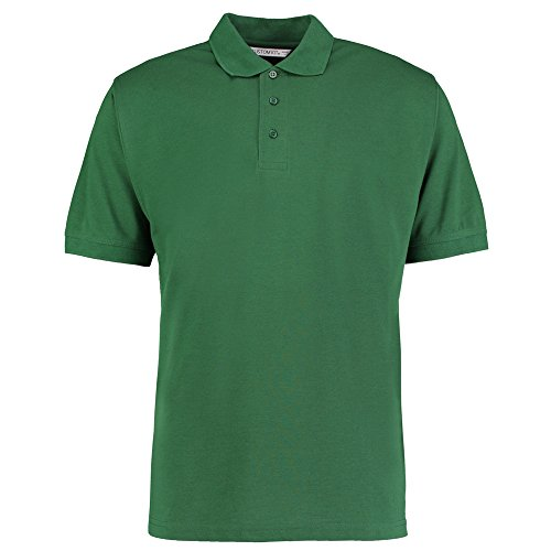 Kustom Kit Herren Modern Poloshirt Flaschengrün