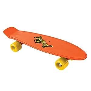 Bored Kids Skateboard - Orange, 58x15cm