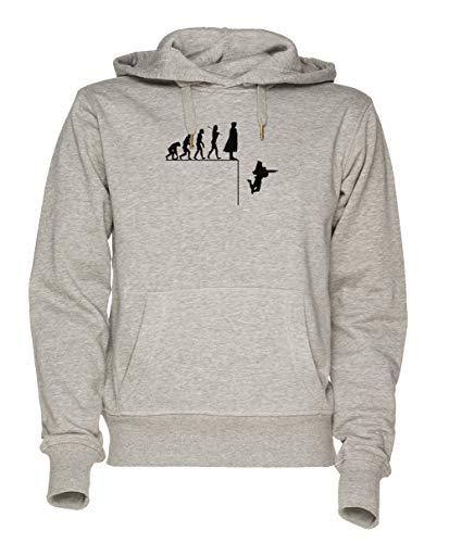 Jergley Sherlock Evolution Unisex Grau Sweatshirt Kapuzenpullover Herren Damen Größe S | Unisex Sweatshirt Hoodie for Men and Women Size S