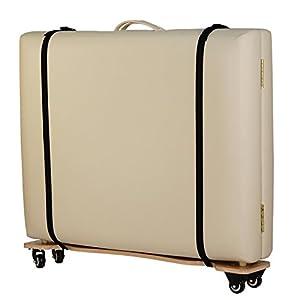 """Rollbrett""""Table Skateboard"""", Transporthilfe für klappbare Massageliegen, Trolly für komfortablen Transport mit und ohne Tragetasche"""