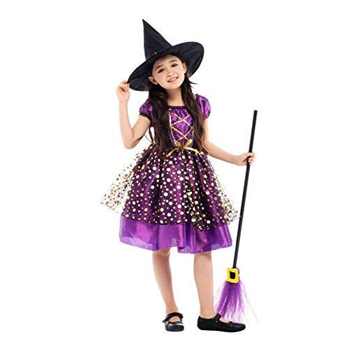 Halloween Kostüm für Kinder Hexe Kostüm Mädchen Kostüm Hut Kinder Fantasie Infantil Karneval - Cheshire Cat Kostüm Zubehör