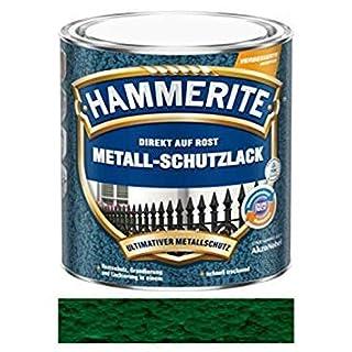 Hammerite Direct to Rust Hammered Finish Metal Paint Dark Green 250ml