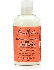 Shea Moisture Curl & Style Milk Lait pour les Cheveux 8 fl oz