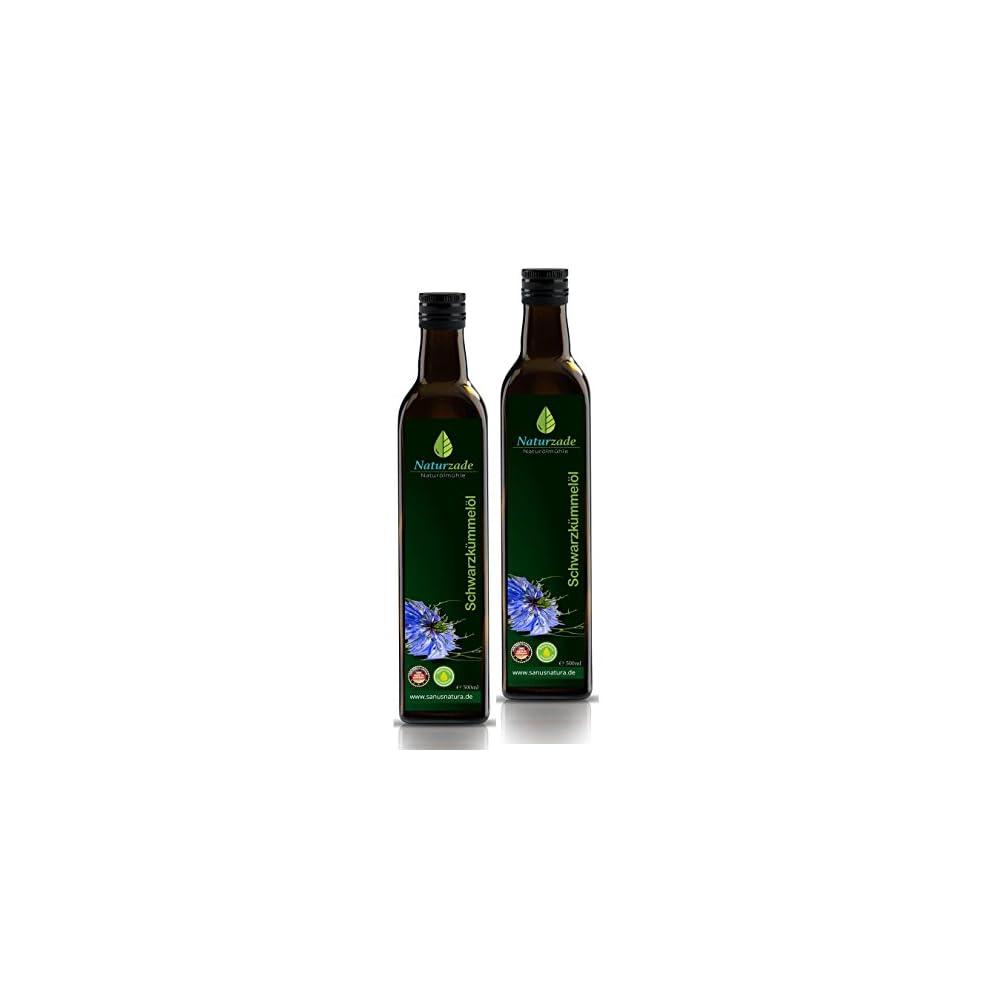 Naturzade Schwarzkmmell 1000ml Gefiltert Glasflasche 2 X 500ml