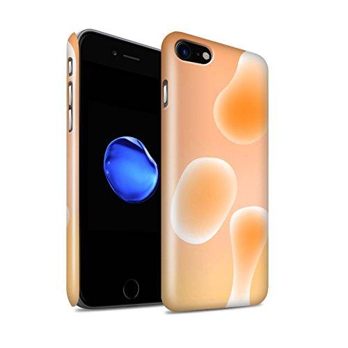 STUFF4 Glanz Snap-On Hülle / Case für Apple iPhone 8 / Rot Muster / Lavalampe Kollektion Orange