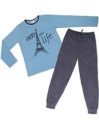 Damen Pyjama,angenehm weich und hautsympathisch durch 100 % Baumwolle
