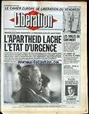 LIBERATION [No 2812] du 08/06/1990 - CAHIER EUROPE - LES VOILES DU CONTINENT - LE LOBBY DE L'ALCOOL FLAMBE - LIBERIA - PEUR A MONROVIA - MANDELA A PARIS - PLACIDO DOMINGO.