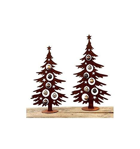 Metallmichl Edelrost Weihnachtsbaum Metall 60 cm hoch für Christbaumkugeln. Christbaum Deko Tanne Baum