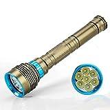 Y&SJ Beruf Tauchen Taschenlampe 8000 Lumen - 200 Meter Unterwasser-LED Super Helle...
