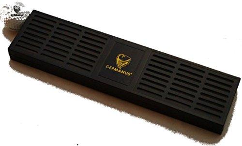 GERMANUS Riesiger Kristalle Humidor Zigarren Befeuchter XXXL mit ca. 30 cm Länge in Schwarz für ca. 100-200 Zigarren Humidor Volumen