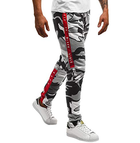 Tomatoa Herren Freizeithose Jogging-Hose Trainingshose Sport-Hose Stoffhose Chinohose für Männer Jogger Jeans Lang Pants Stretch Hosen...