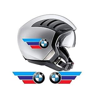 BMW Motorsport kompatible dreifarbige Helmaufkleber