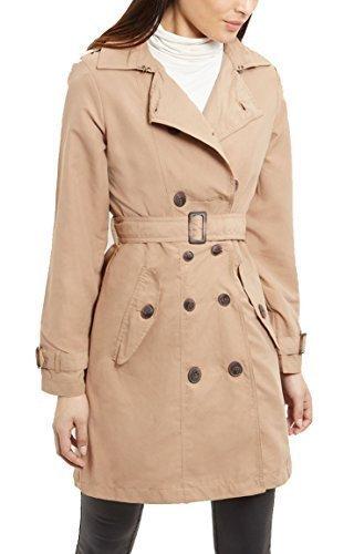 Braun Kostüm Trenchcoat (neuer Frauen LEINEN MAC Damen TRENCHCOAT Camel MARINEBLAU Größe 8 10 12 14 16 s - Kamel, 10)