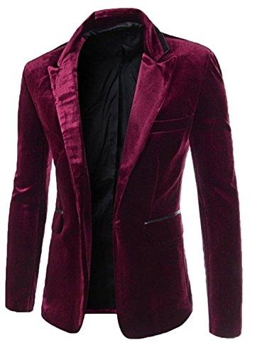 ac8bc63ca784b3 Bevalsa Modisch Herren Anzug Jacke Sakko Klassisch Slim Fit Blazer Business  Freizeit Smoking Einfarbig Weihnachten Kostüme