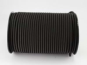 30 M Black Bungee Cord 8 MM with Tensioning Rope / Tarpaulin Rope Elasticated by monoflex