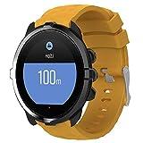 Womdee Compatible Suunto 9 Bracelet, Bracelet de Remplacement de Bracelet de Fitness en Silicone Unisexe avec Respirant et Imperméable pour Le Suunto Spartan Poignet Sport HR Baro, Jaune