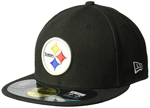 New Era NFL Herren Pittsburgh Steelers On Field 5950 Game Cap, Unisex, 10529751, Schwarz, 6 7/8 -
