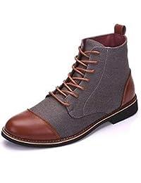 30bd65a9 Botas De Tobillo para Hombre Zapatos De Vestir con Punta En Punta De  Invierno con Cordones