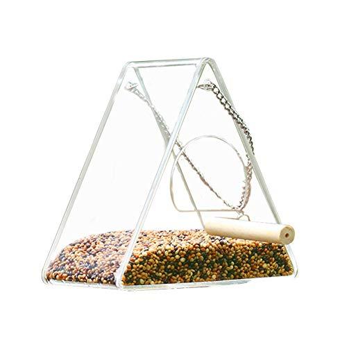 Hängende Vogelzuführung aus klarem Acrylglas, Vogelhäuschen für eine einfache Reinigung - keine Montage erforderlich,StyleA