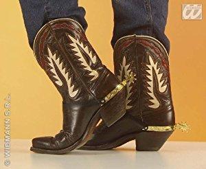 (WIDMANN-8518s Cowboy Adult Unisex, gold, One Size, 8518S)