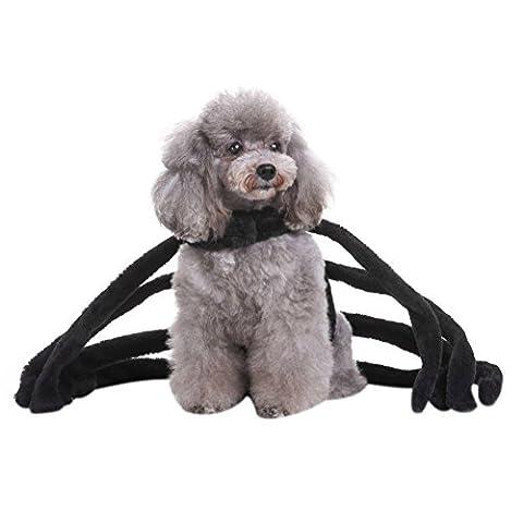 Kiao Haustier Hund Halloween Pullover Mantel Spiderman Puppy Kostüm Kleidung (Spiderman Kostüme Designs)
